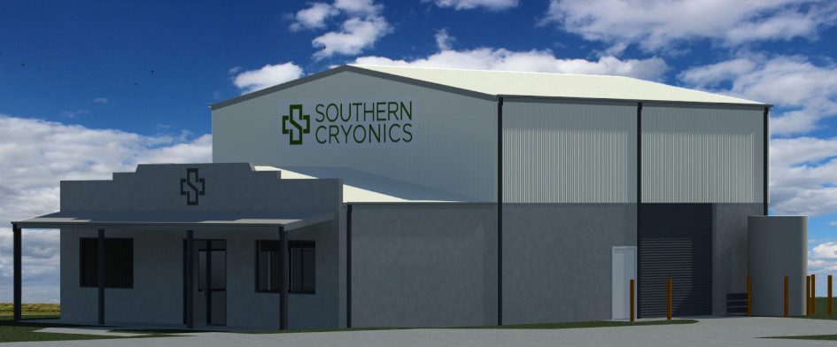 Southern Cryonics Facility rendering